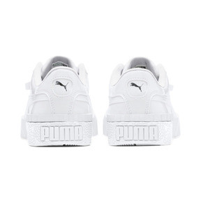 Thumbnail 3 of Cali Patent Sneakers JR, Puma White-Puma White, medium