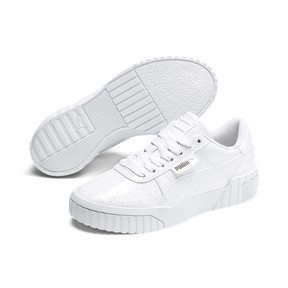 Thumbnail 2 of Cali Patent Sneakers JR, Puma White-Puma White, medium