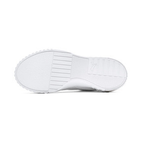 Thumbnail 4 of Cali Patent Sneakers JR, Puma White-Puma White, medium