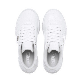 Thumbnail 6 of Cali Patent Sneakers JR, Puma White-Puma White, medium