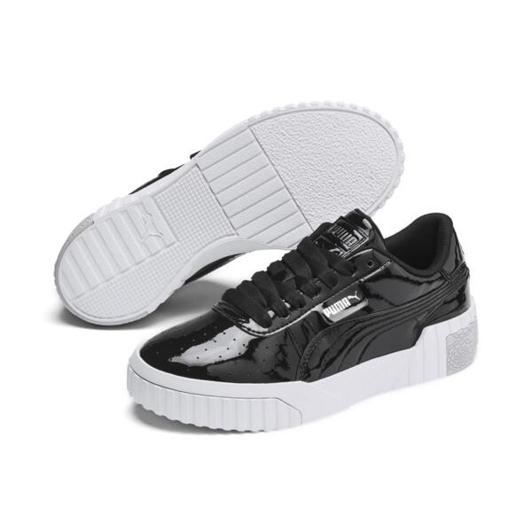 Zapatos deportivos Cali de charol para joven, Puma Black-Puma White, grande