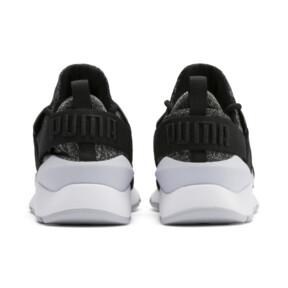 Miniatura 3 de Zapatos Muse Shift para niños pequeños, Puma Black-Heather, mediano