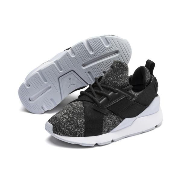Zapatos Muse Shift para niños pequeños, Puma Black-Heather, grande