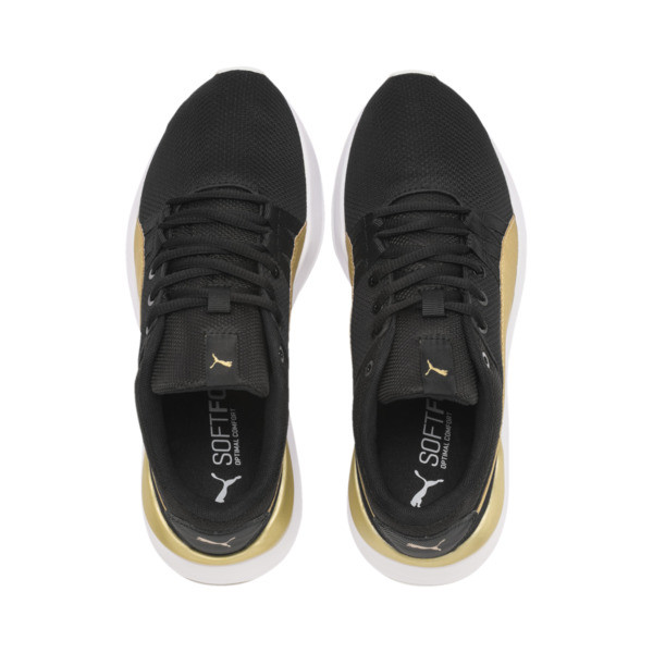 Adela Breathe Sneakers JR, Puma Black-Puma Team Gold, large