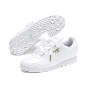 Thumbnail 2 of Roma Heart Patent Women's Sneakers, Puma White-Puma Team Gold, medium