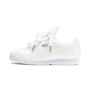 Thumbnail 1 of Roma Heart Patent Women's Sneakers, Puma White-Puma Team Gold, medium