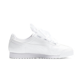 Thumbnail 6 of Roma Heart Patent Women's Sneakers, Puma White-Puma Team Gold, medium