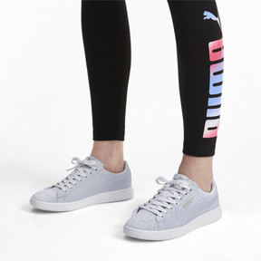 Thumbnail 3 of PUMA Vikky v2 Wildcat Women's Sneakers, Heather-Puma Silver-White, medium
