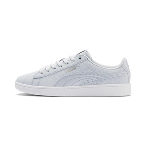 Thumbnail 1 of PUMA Vikky v2 Wildcat Women's Sneakers, Heather-Puma Silver-White, medium