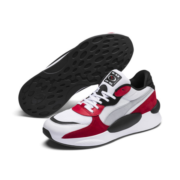 RS 9.8 Space Sneakers, Puma White-High Risk Red, large