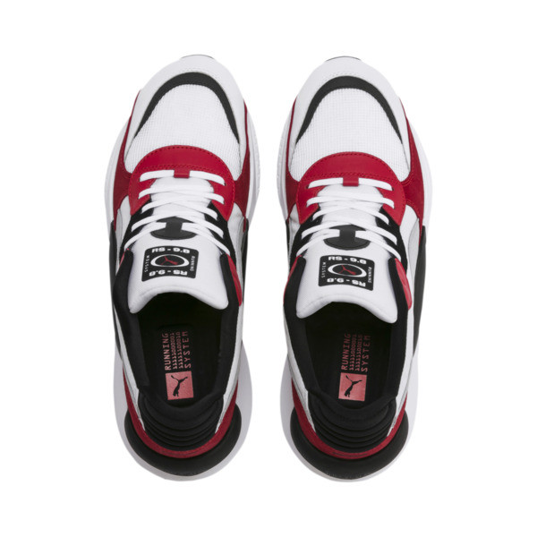 RS 9.8 Space Trainers, Puma White-High Risk Red, large