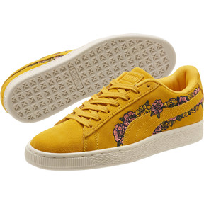 Thumbnail 2 of Suede Embroidered Floral Women's Sneakers, Whisper White, medium