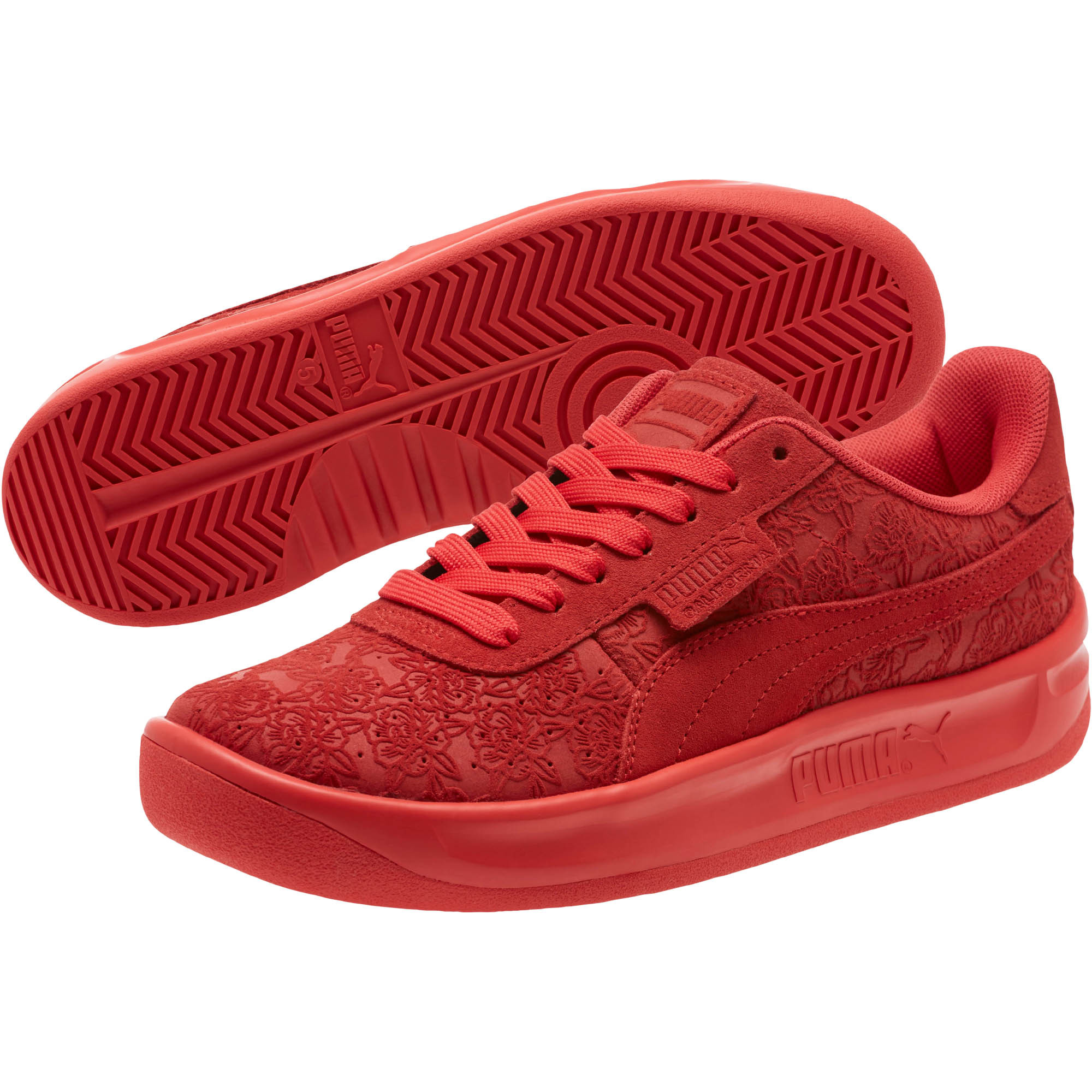 wholesale dealer bed38 9c595 PUMA-California-Embossed-Floral-Women-s-Sneakers-Women-