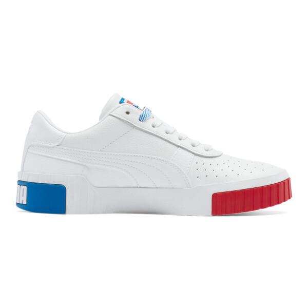 Cali RWB Women's Sneakers, P Wht-Hi Risk R-Indigo Bunt, large