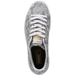 Thumbnail 5 of Clyde Reptile Women's Sneakers, P Wht-P Blk-Metallic Gold, medium