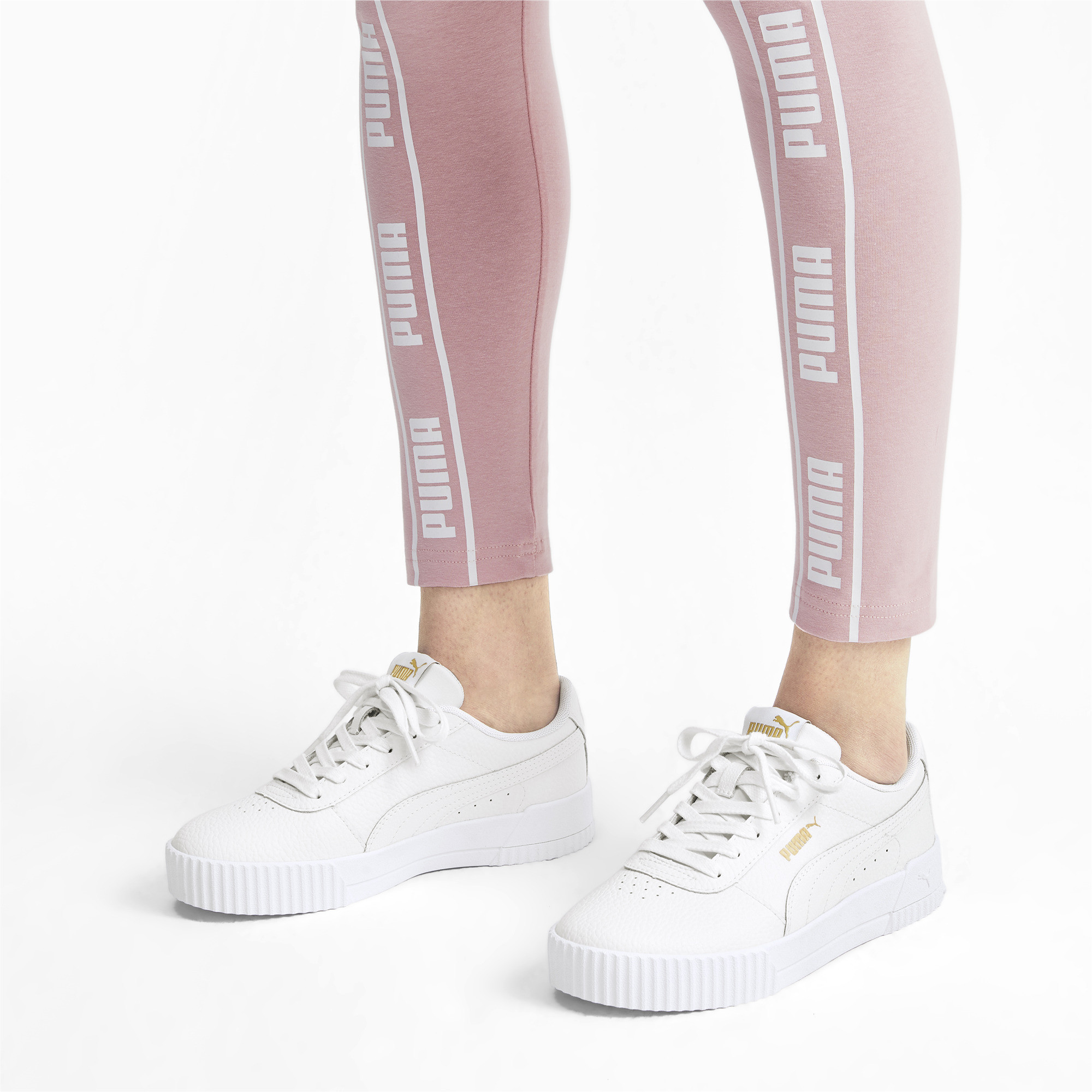 PUMA-Women-039-s-Carina-Lux-Leather-Sneakers thumbnail 5