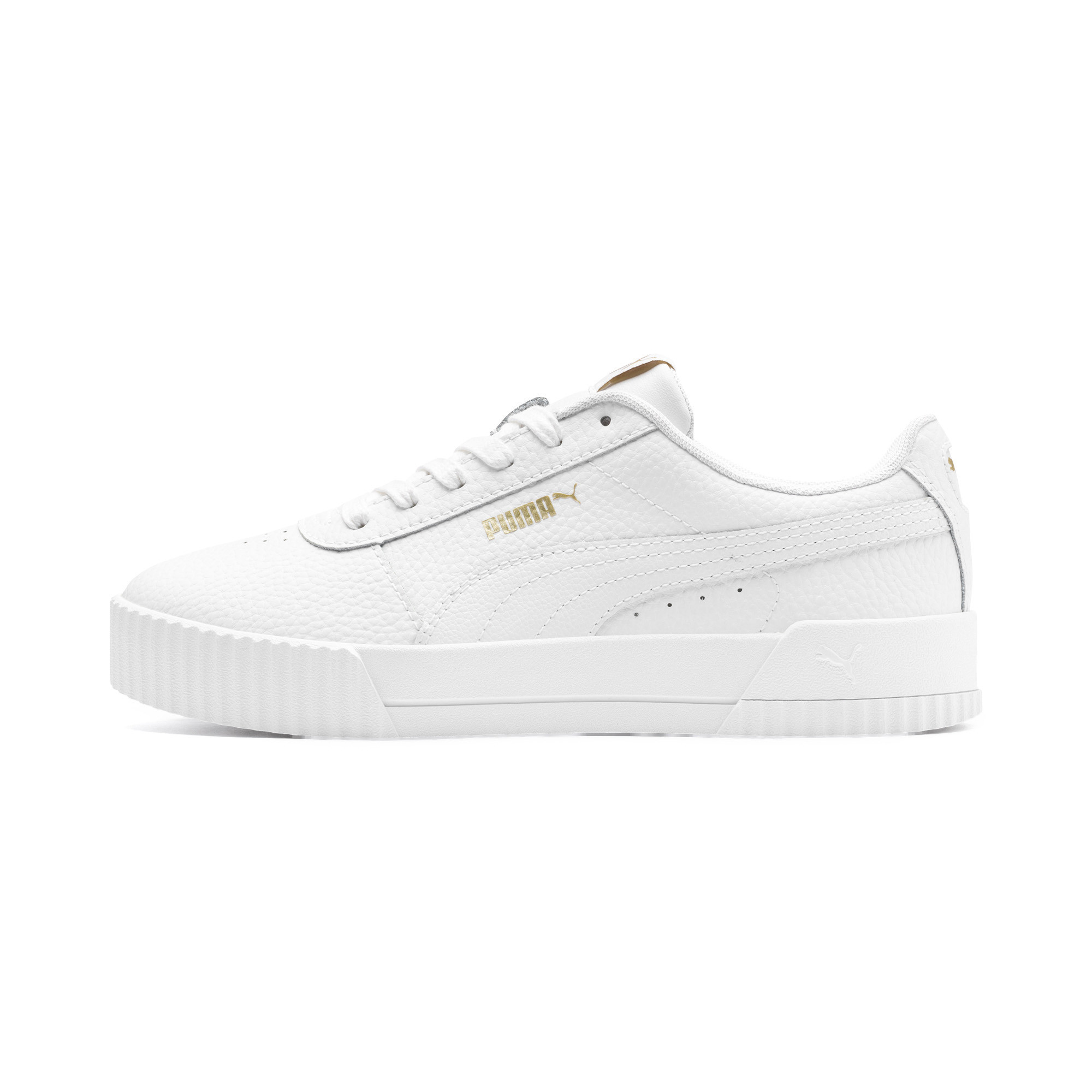 PUMA-Women-039-s-Carina-Lux-Leather-Sneakers thumbnail 4