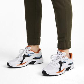 Thumbnail 2 van Axis Plus jaren 90 sneakers, White-Blk-T Lt Blue-J Orange, medium
