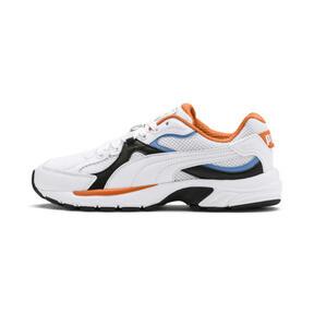 Thumbnail 1 van Axis Plus jaren 90 sneakers, White-Blk-T Lt Blue-J Orange, medium