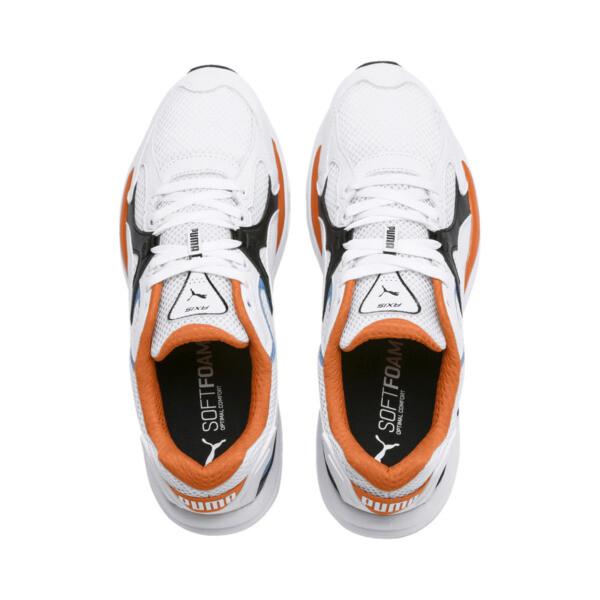 Axis Plus jaren 90 sneakers, White-Blk-T Lt Blue-J Orange, large