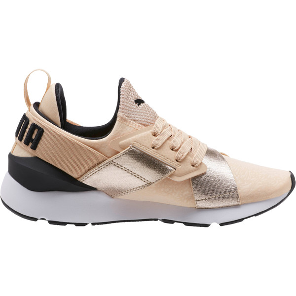 Muse Metallic Women's Sneakers, Natural Vachetta-Puma Black, large