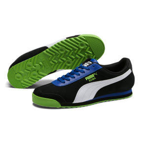 Thumbnail 2 of Roma XTG Perf Men's Sneakers, Puma Black-Surf The Web, medium
