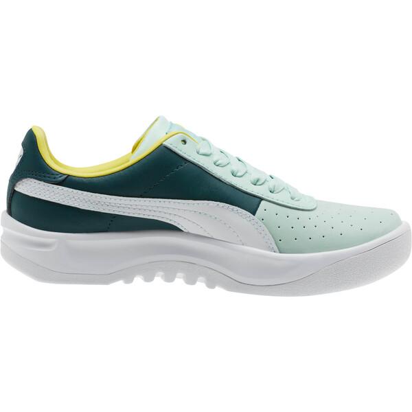California PUMA Logo Women's Sneakers, Fair Aqua-Puma White, large