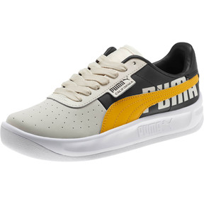 Thumbnail 1 of California PUMA Logo Women's Sneakers, Whisper White-Gold Fusion, medium