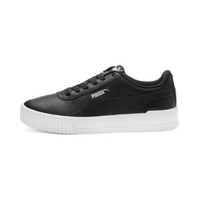 Thumbnail 1 of Carina Leather Women's Sneakers, Puma Black- White-Silver, medium