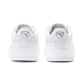 Thumbnail 3 of Carina Leather Women's Sneakers, Puma White- White-Silver, medium