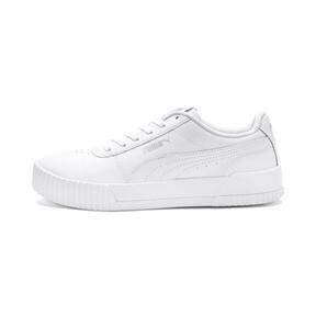 Thumbnail 1 of Carina Leather Women's Sneakers, Puma White- White-Silver, medium