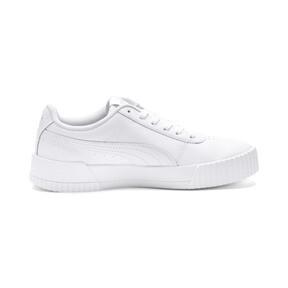 Thumbnail 5 of Carina Leather Women's Sneakers, Puma White- White-Silver, medium