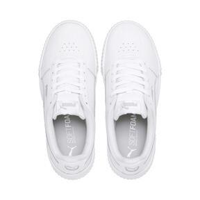 Thumbnail 6 of Carina Leather Women's Sneakers, Puma White- White-Silver, medium
