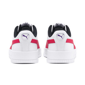 Thumbnail 4 of Carina Leather Women's Sneakers, Puma White-Nrgy Rose, medium