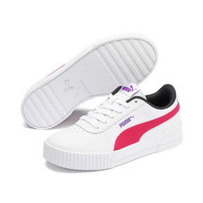 Thumbnail 2 of Carina Leather Women's Sneakers, Puma White-Nrgy Rose, medium