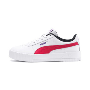 Thumbnail 1 of Carina Leather Women's Sneakers, Puma White-Nrgy Rose, medium