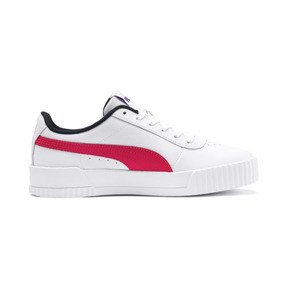 Thumbnail 6 of Carina Leather Women's Sneakers, Puma White-Nrgy Rose, medium