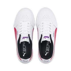 Thumbnail 7 of Carina Leather Women's Sneakers, Puma White-Nrgy Rose, medium