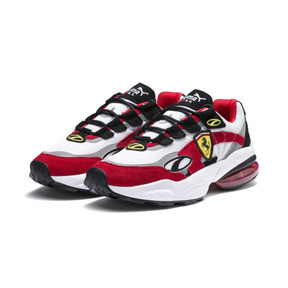 Thumbnail 2 of Ferrari Cell Venom Trainers, Puma White-Rosso Corsa, medium