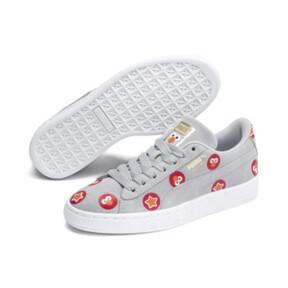 Thumbnail 2 of PUMA x SESAME STREET 50 Suede Badge Sneakers JR, Grey Dawn-High Risk Red, medium
