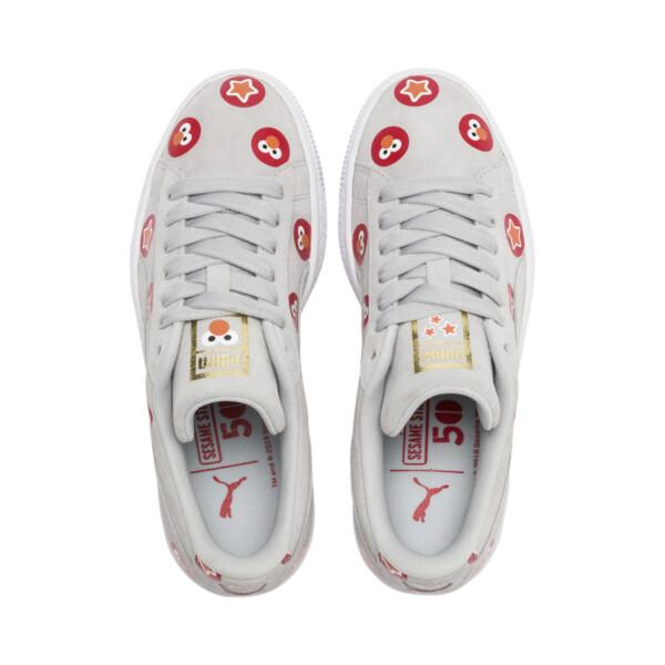 PUMA x SESAME STREET 50 Suede Badge Sneakers JR, Grey Dawn-High Risk Red, large
