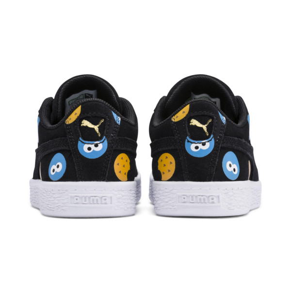 PUMA x SESAME STREET 50 Suede Badge Little Kids' Shoes, Puma Black-Bleu Azur, large