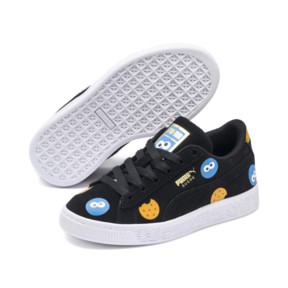 Thumbnail 2 of PUMA x SESAME STREET 50 Suede Badge Little Kids' Shoes, Puma Black-Bleu Azur, medium