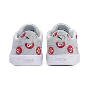 Thumbnail 3 of PUMA x SESAME STREET 50 Suede Badge Little Kids' Shoes, Grey Dawn-High Risk Red, medium