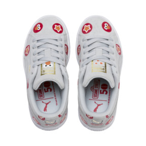 Thumbnail 6 of PUMA x SESAME STREET 50 Suede Badge Little Kids' Shoes, Grey Dawn-High Risk Red, medium