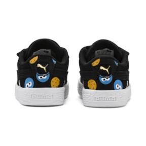 Thumbnail 4 of PUMA x SESAME STREET 50 Suede Badge Toddler Shoes, Puma Black-Bleu Azur, medium