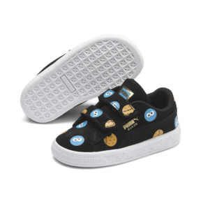 Thumbnail 3 of PUMA x SESAME STREET 50 Suede Badge Toddler Shoes, Puma Black-Bleu Azur, medium