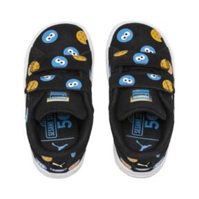 Thumbnail 5 of PUMA x SESAME STREET 50 Suede Badge Toddler Shoes, Puma Black-Bleu Azur, medium