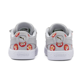 Thumbnail 4 of PUMA x SESAME STREET 50 Suede Badge Toddler Shoes, Grey Dawn-High Risk Red, medium