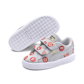 Thumbnail 3 of PUMA x SESAME STREET 50 Suede Badge Toddler Shoes, Grey Dawn-High Risk Red, medium